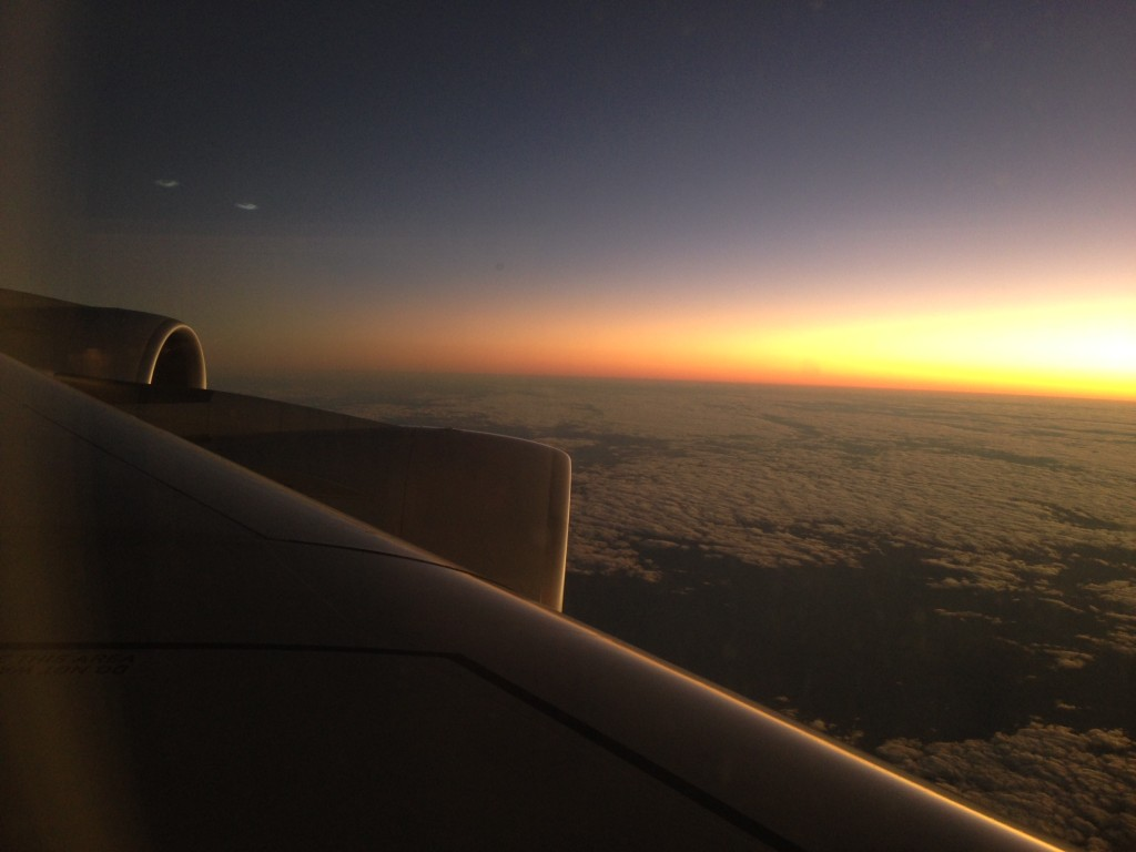 Bad flying experiences Sunset over Africa