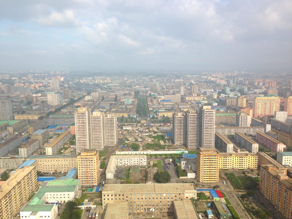 Pyongyang from the sky