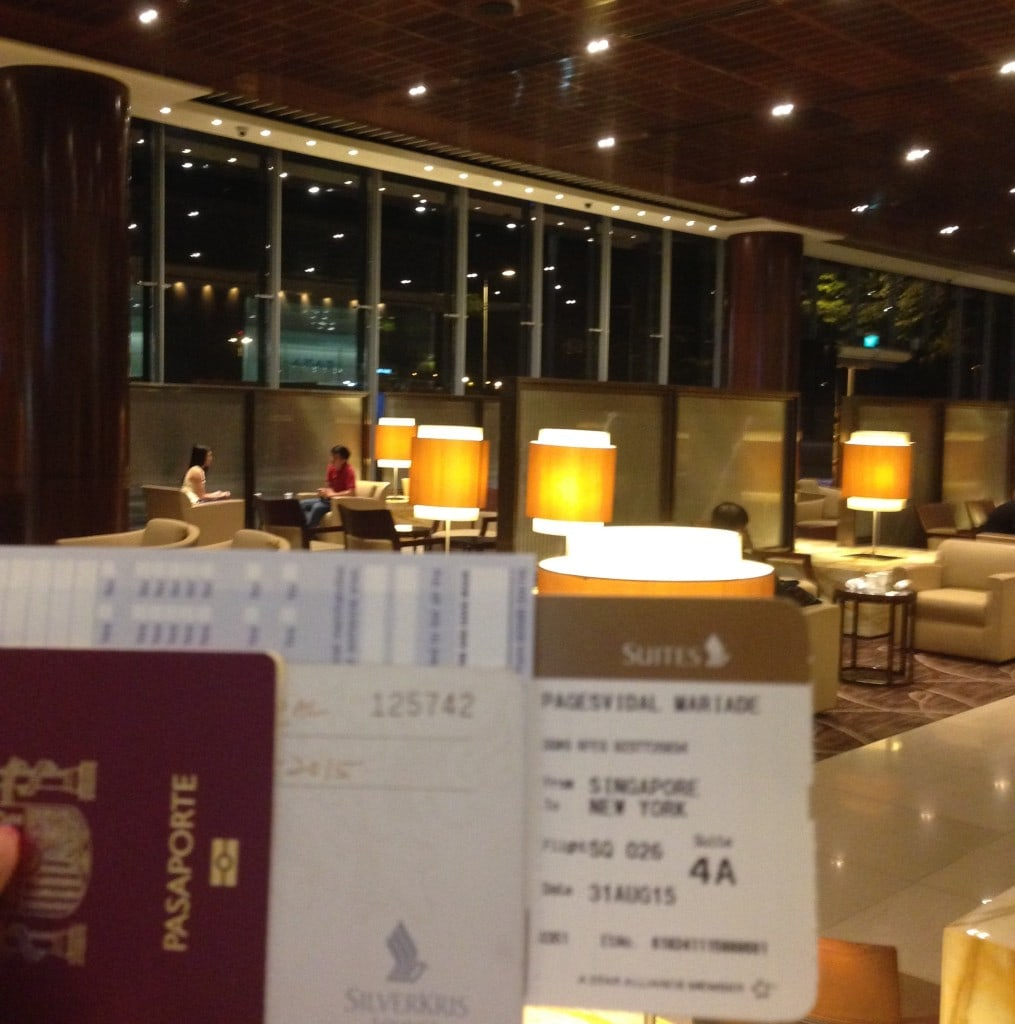 Suites check-in lounge for the Singapore Airlines Suites review