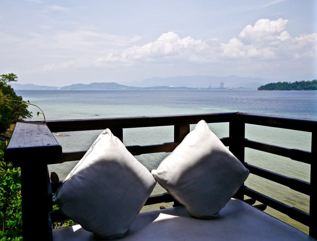 Gaya Island Resort veranda lounge