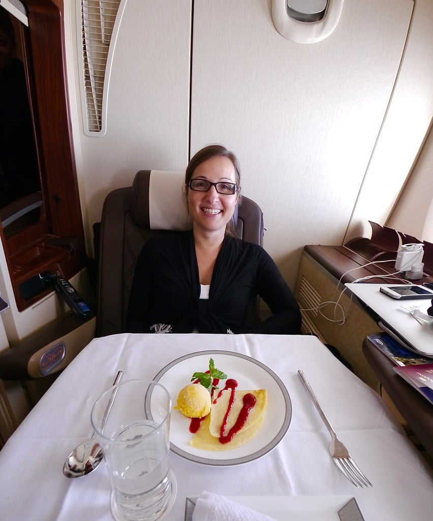 The large table for two on Singapore Airlines Suites