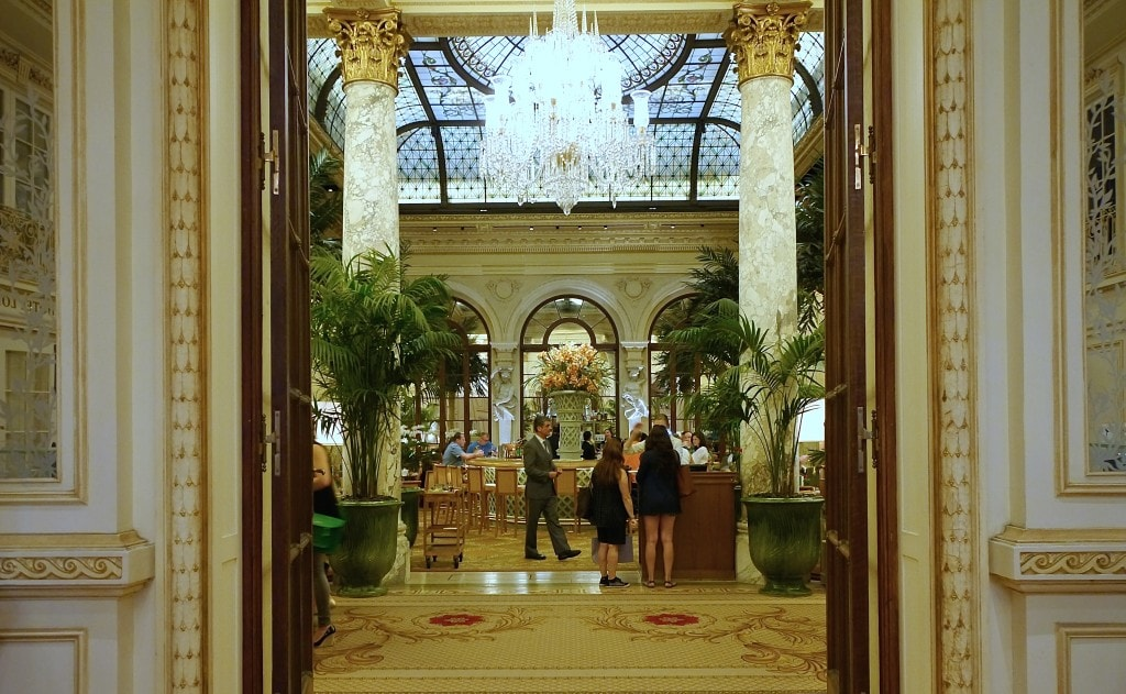 The entrance to The Palm Court