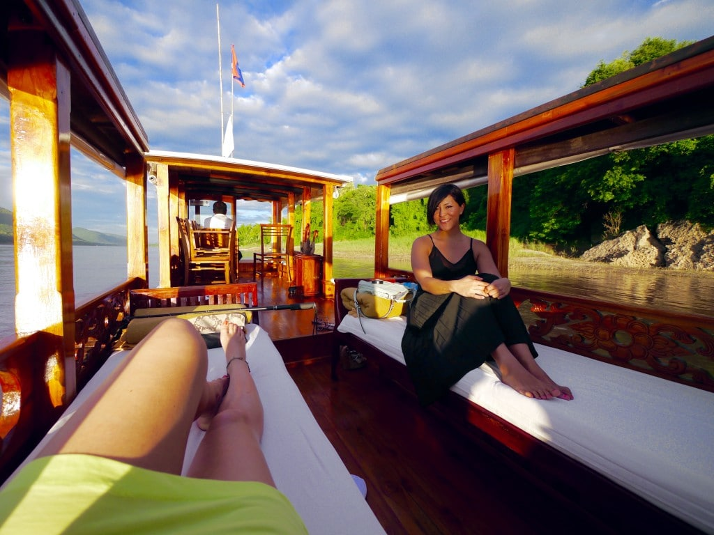 Belmond La Residene Phou Vao Mekong boat