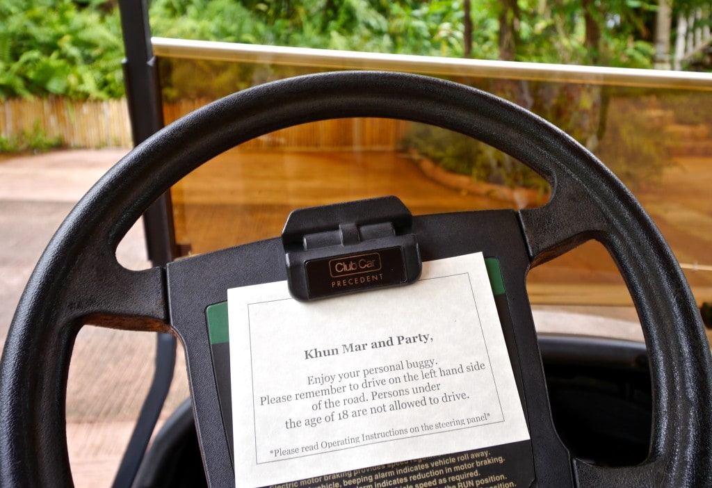 Soneva Kiri electric buggy