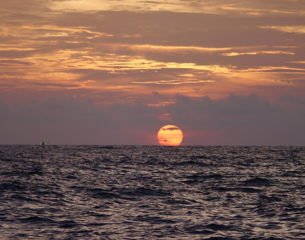 Beach BBQ sunset