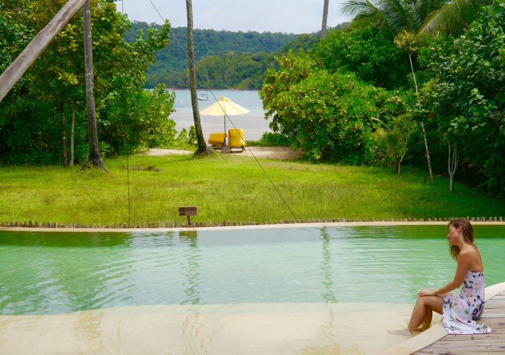 Soneva Kiri Beach villa pool