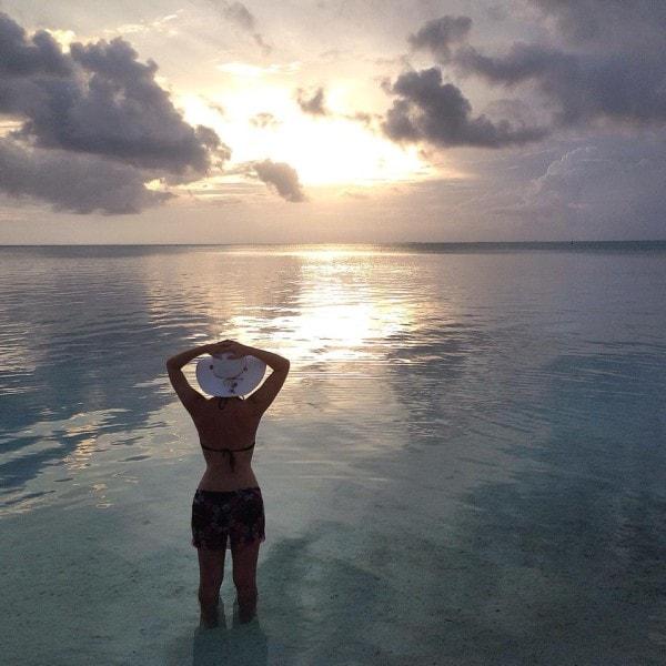 Sunset after the rain in Bora Bora