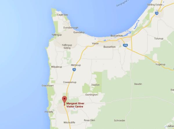 Google Maps of Southwest Australia