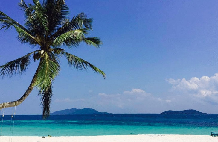 Rawa island is one of the less known beaches in Southeast Asia