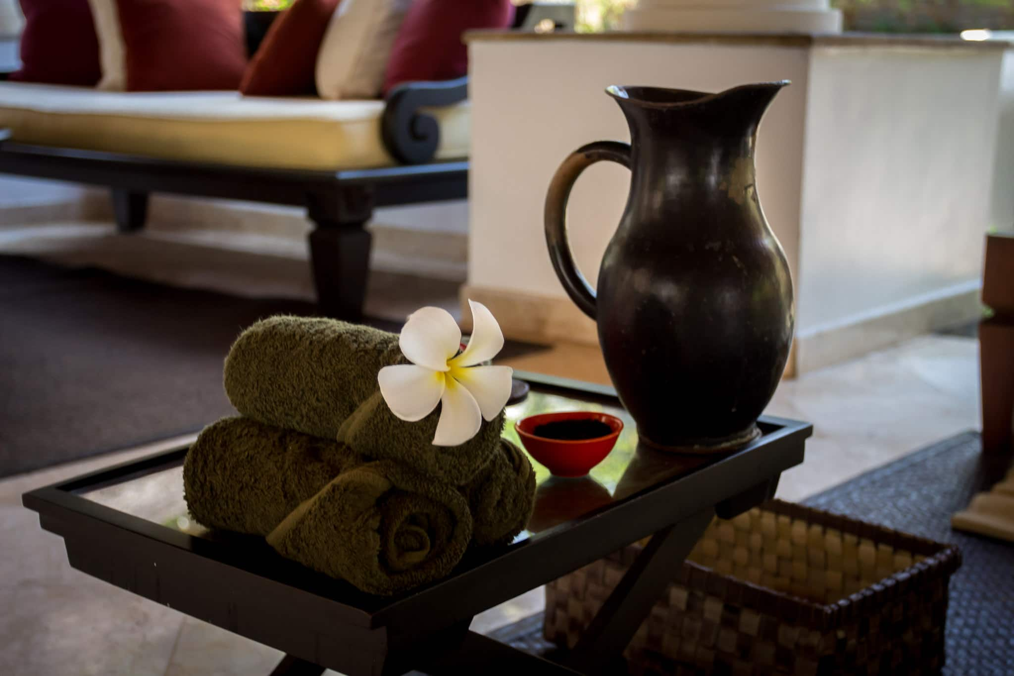 Welcome rituals at Spa Village Tembok