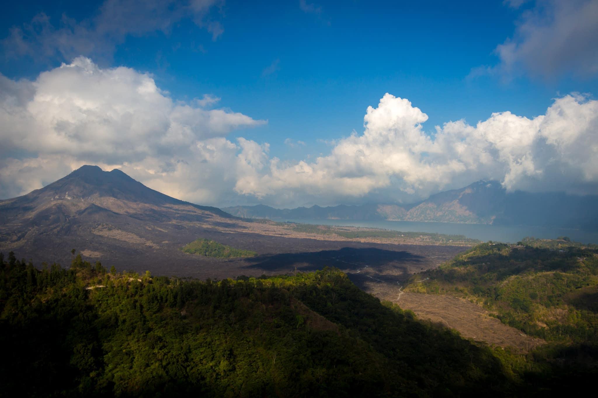 Mount Batur volcano and lake
