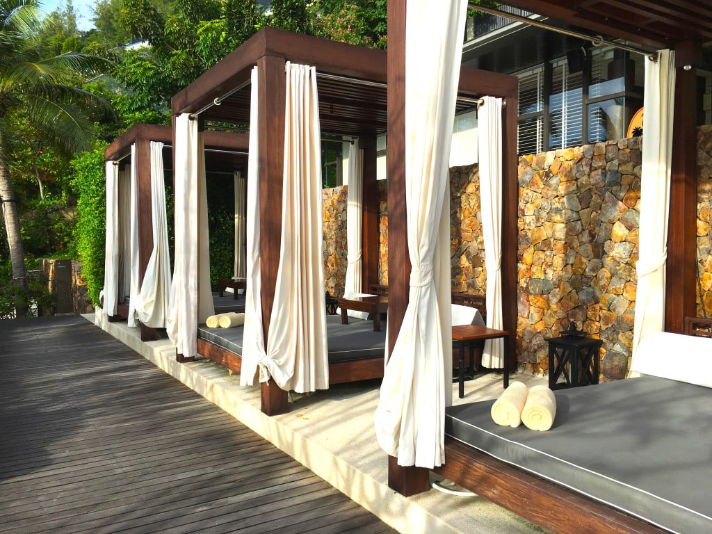 Private cabanas at Conrad Koh Samui