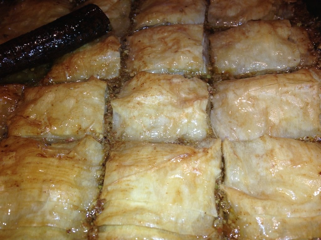 Baklava with cinnamon
