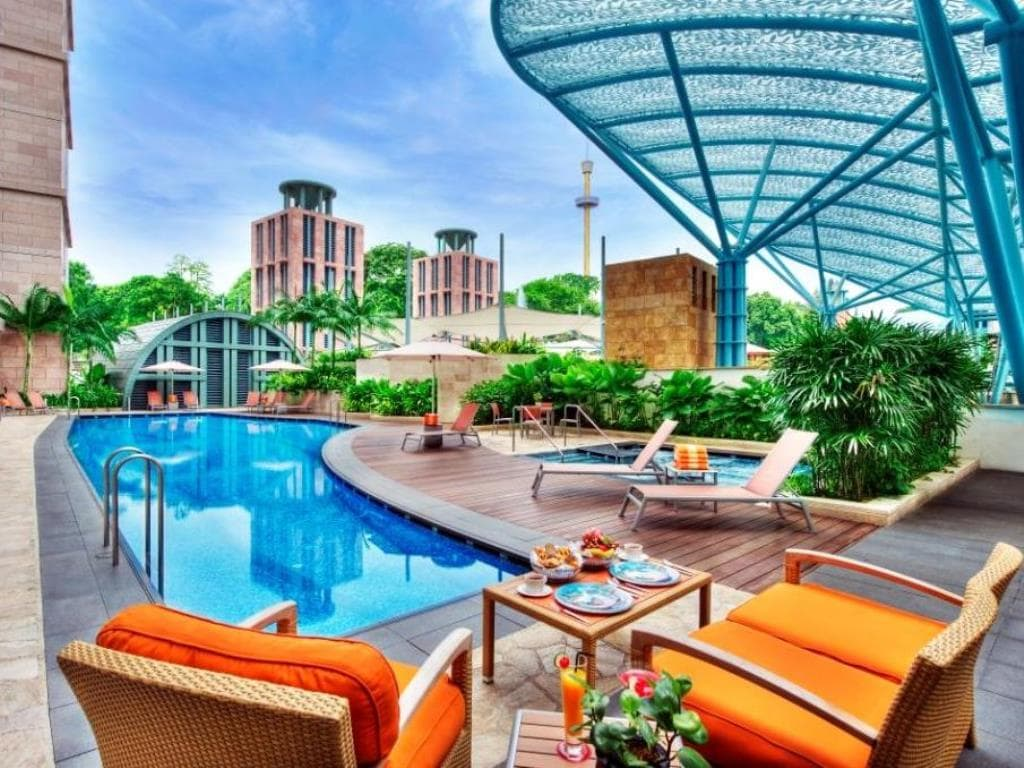 Swimming pool at Hotel Michael in Resorts World Sentosa