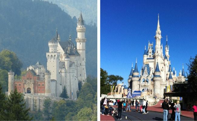 Cinderella's castle vs. Neuschwanstein Castle