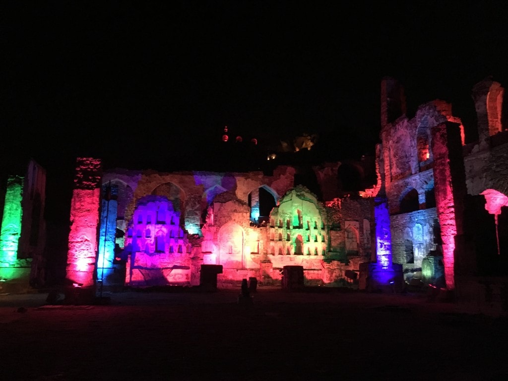 Golconda Fort light show