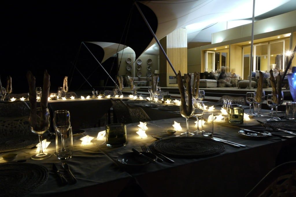 New Year's Eve meal at Hoanib Skeleton Coast Camp