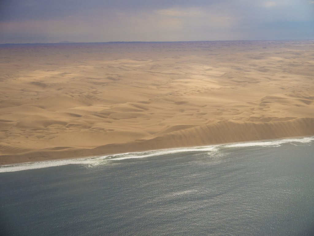 Skeleton coast aerial shot