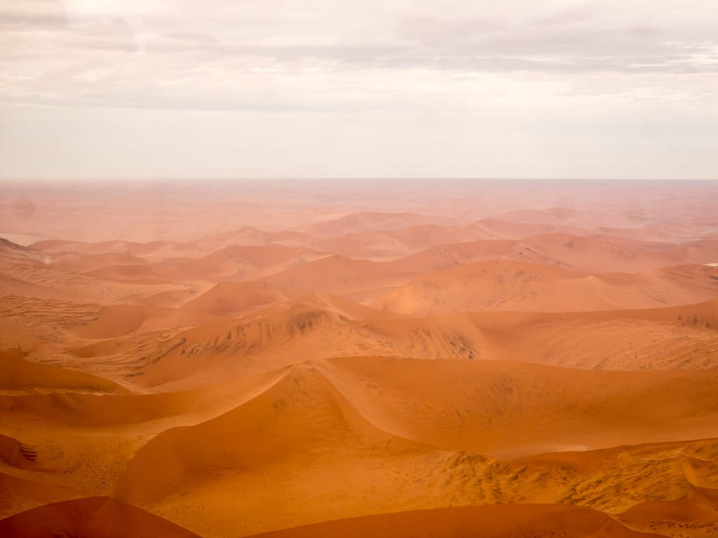 A sea of dunes in the Namib Desert