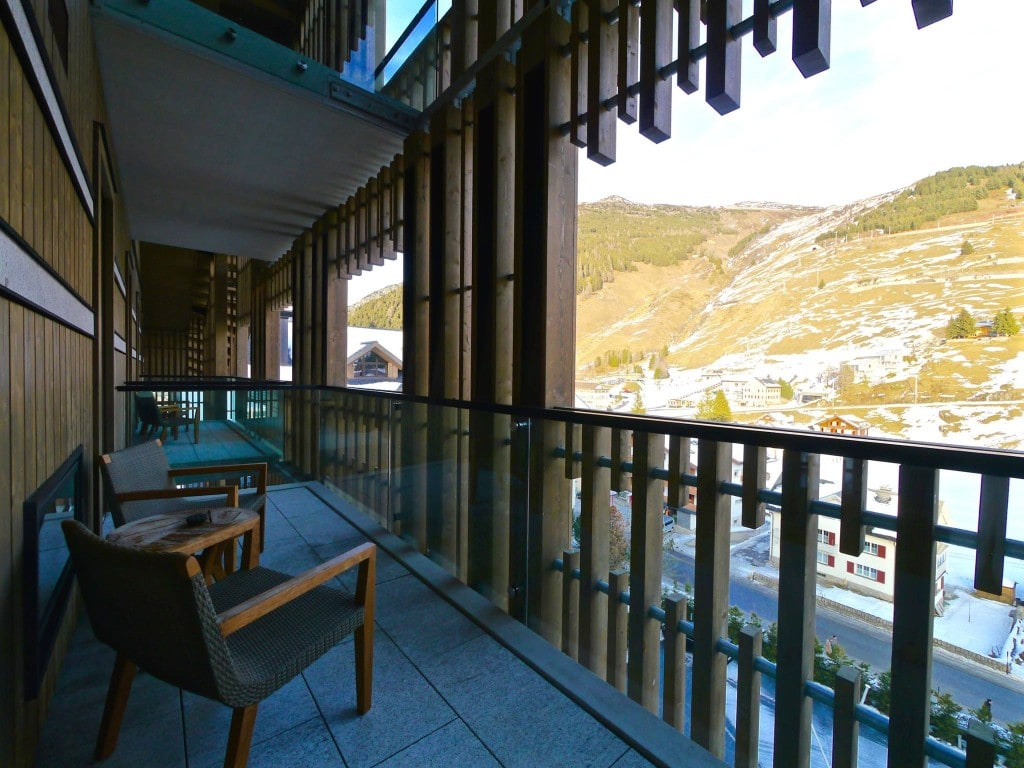 The Chedi Andermatt room balcony