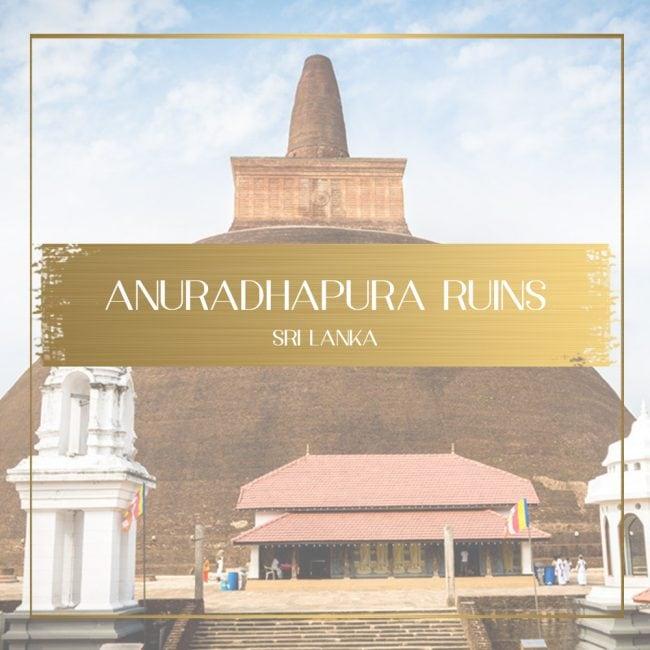 Anuradhapura ruins feature
