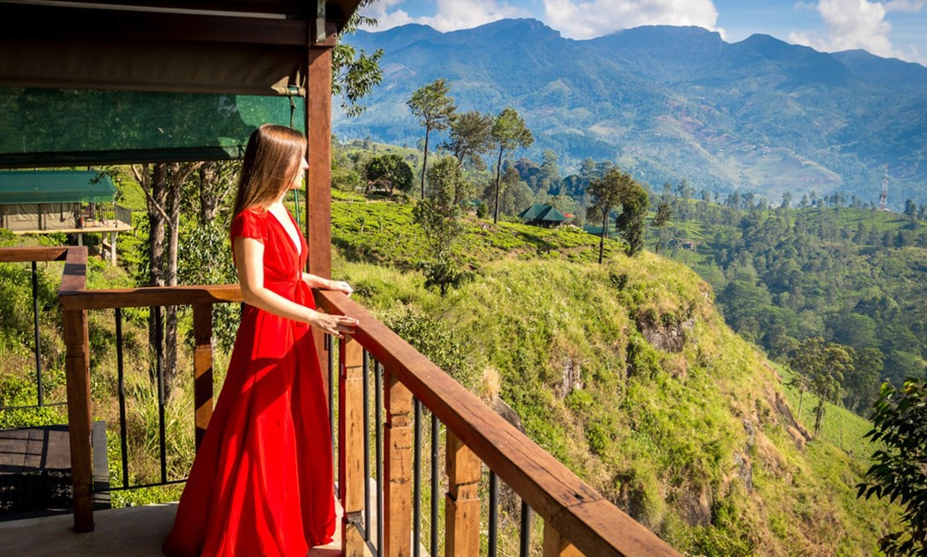 itinerary of Sri Lanka tea lodge view