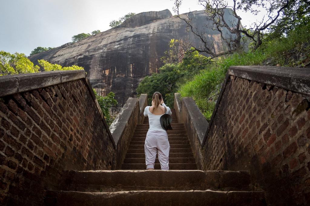 Going up Sigiriya