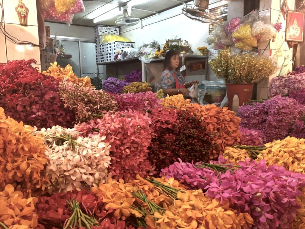Bangkok Flower market vendor
