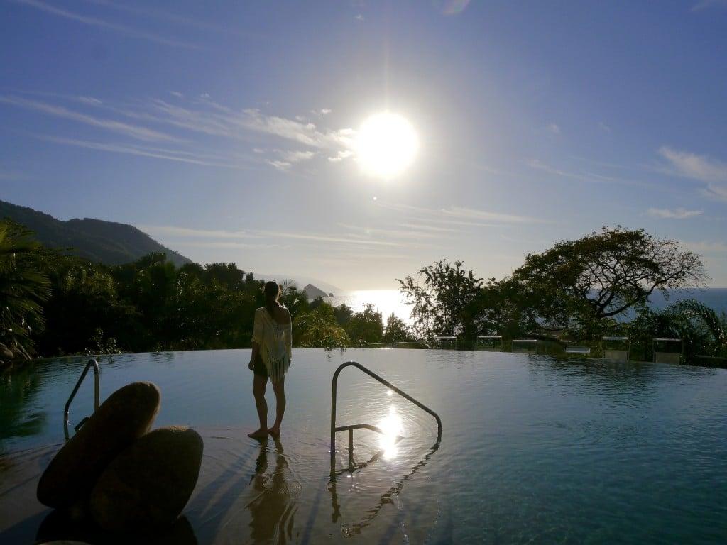 Sunset at timeshare resort