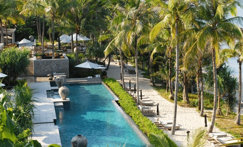 best luxury hotels in Phuket Trisara Pool