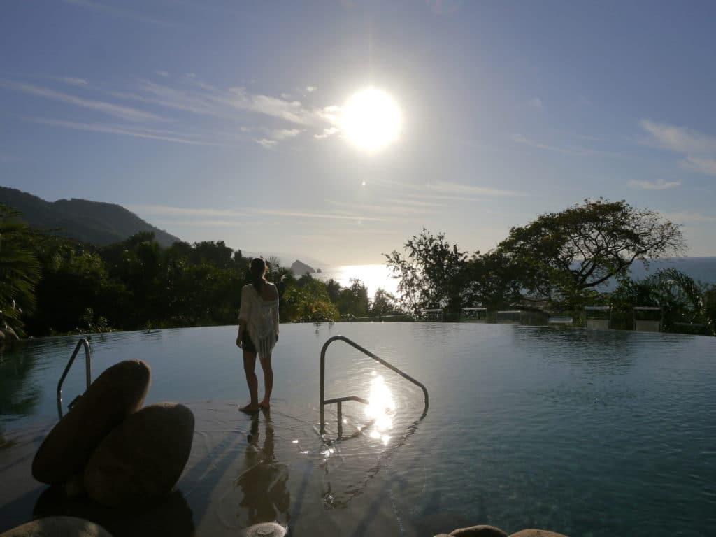 Hilltop pool Garza Blanca Preserve Resort & Spa