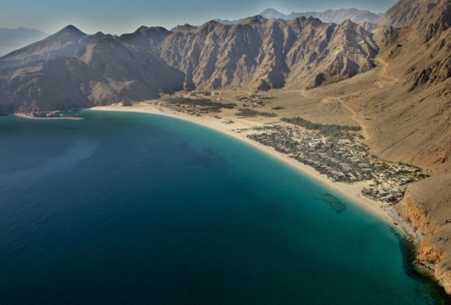 Six Senses Zighy Bay aerial view
