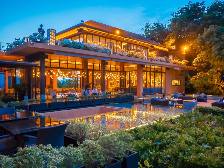 """Sri Panwa's pavilion at night"""