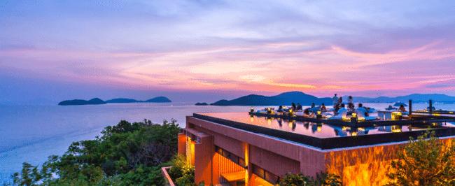 Sri Panwa review Baba Nest sunset
