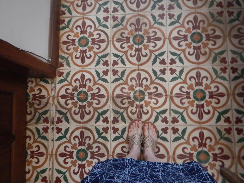 Original tile floors at The Pavilions Phnom Penh