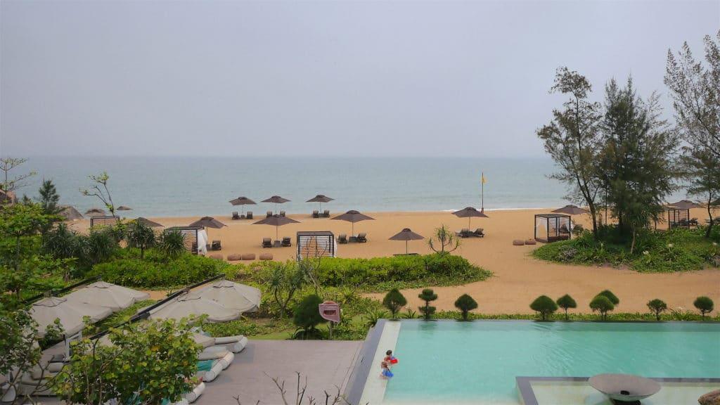 Main pool overlooking the beach