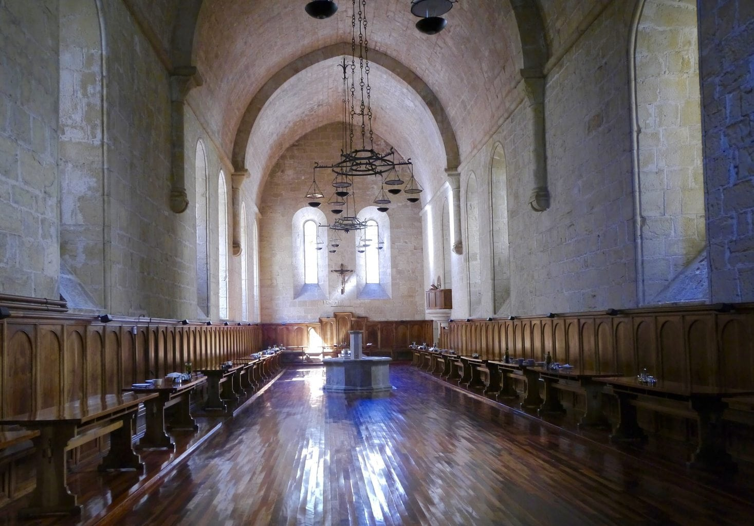 Poblet Monastery monk dining room