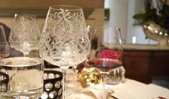 Enoteca Pinchiorri especially designed wine glasses
