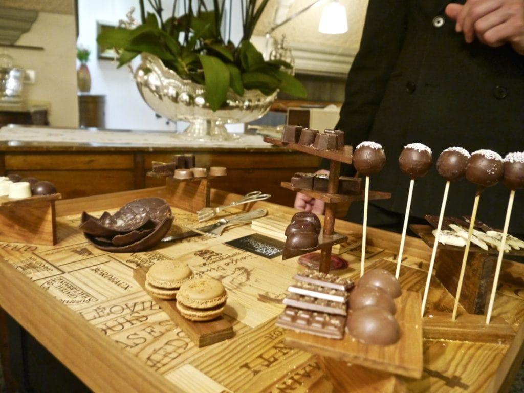 Chocolate cart Enoteca Pinchiorri