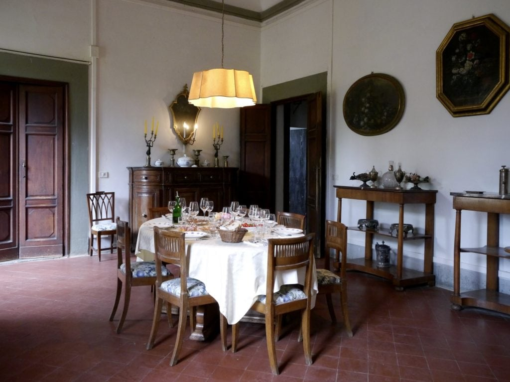 Tuscany wine tour Lunch at Villa del Cigliano