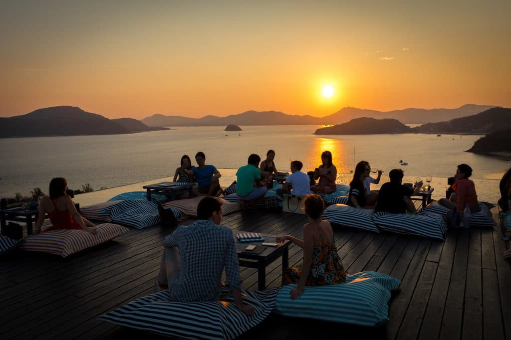 Sunset from Sri Panwa Baba Nest