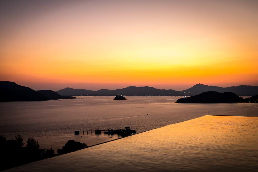 Sunset from Sri Panwa's Baba Nest