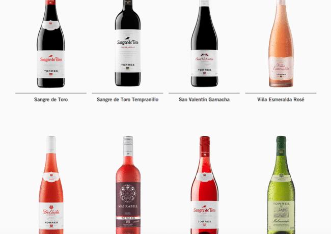 Torres wine range