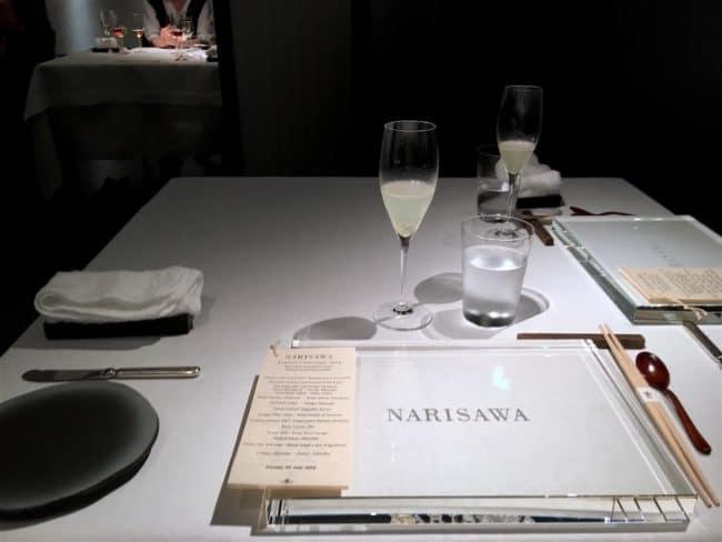 Narisawa menu