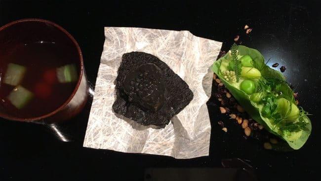 Sea snake and taro from Narisawa