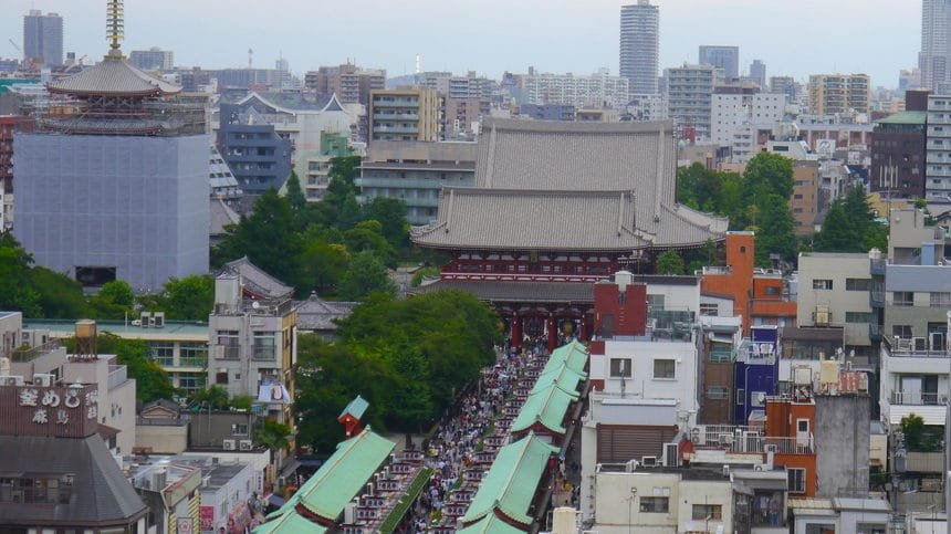 Asakusa from the Tourism Information Center