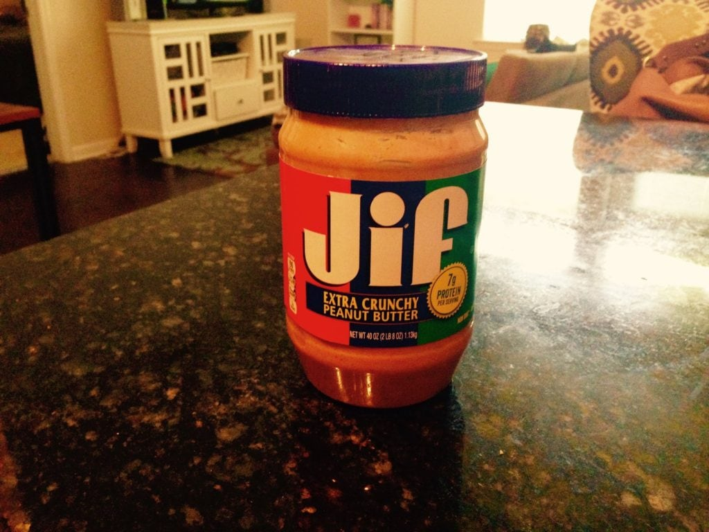 travelers miss from home Jif peanut butter