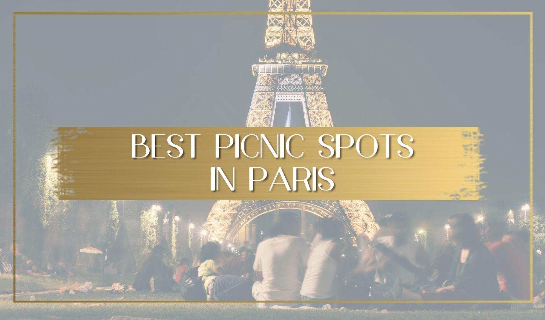 Best picnic spots in Paris main