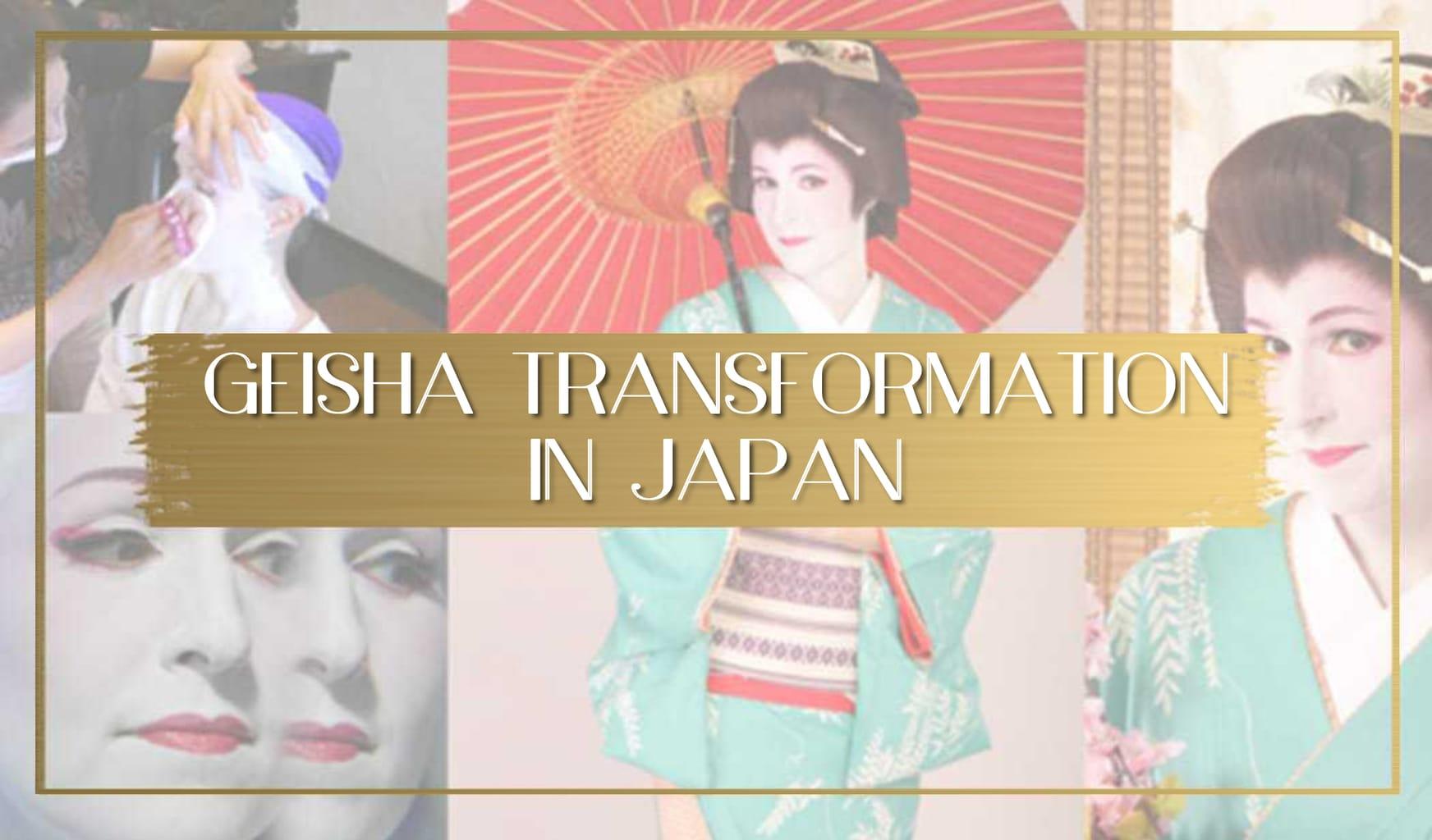Geisha transformation in Japan main