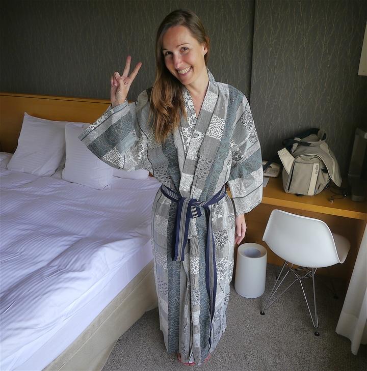 Onsen spa bathrobe
